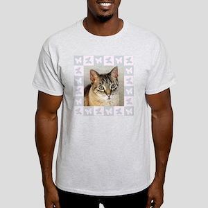 Hannah--Cat Portrait Light T-Shirt