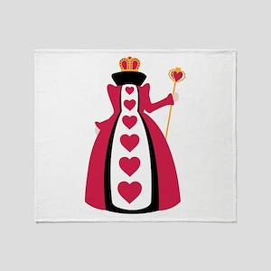 Queen Of Hearts Throw Blanket