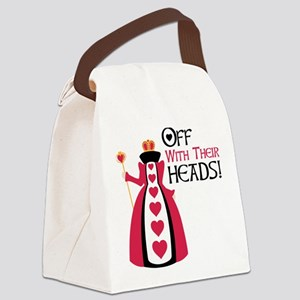 OFF WITH THEIR HEADS! Canvas Lunch Bag