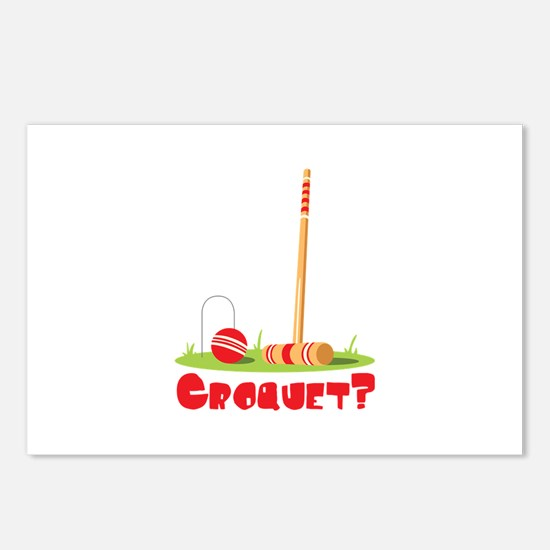 CROQUET? Postcards (Package of 8)