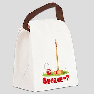 CROQUET? Canvas Lunch Bag