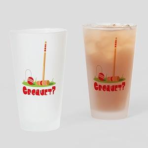 CROQUET? Drinking Glass