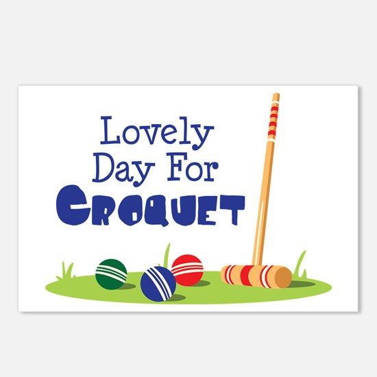 Lovely Day For CROQUET Postcards (Package of 8)
