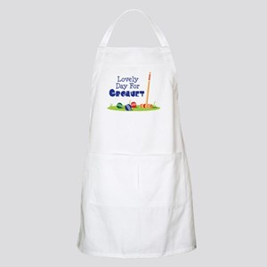 Lovely Day For CROQUET Apron