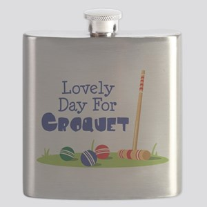 Lovely Day For CROQUET Flask