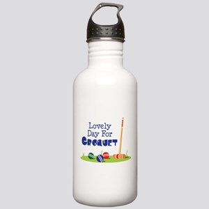 Lovely Day For CROQUET Water Bottle