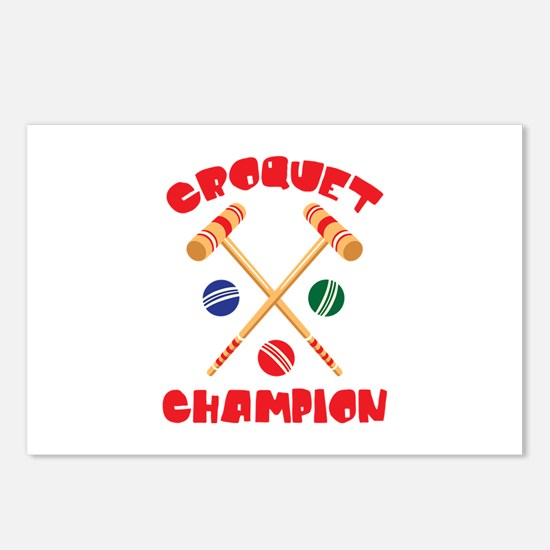 CROQUET CHAMPION Postcards (Package of 8)