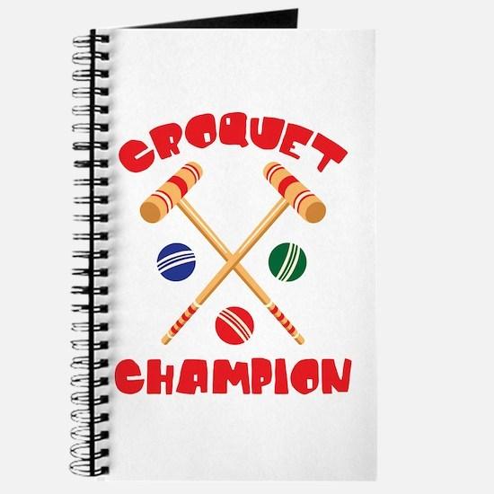 CROQUET CHAMPION Journal