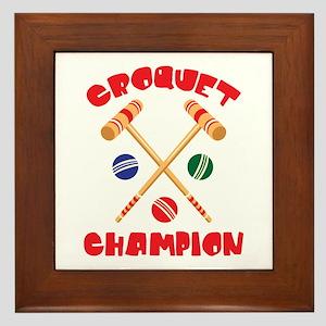 CROQUET CHAMPION Framed Tile