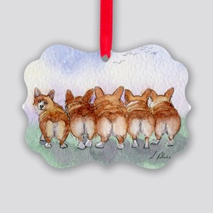 Five Corgi butts Ornament