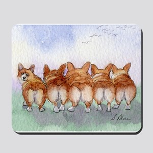 Five Corgi butts Mousepad