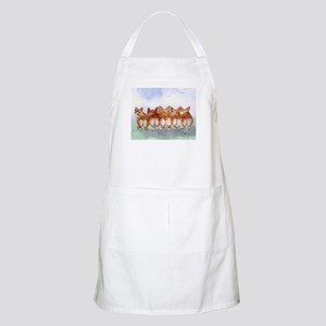 Five Corgi butts Apron