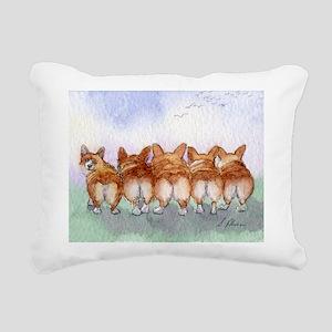 Five Corgi butts Rectangular Canvas Pillow