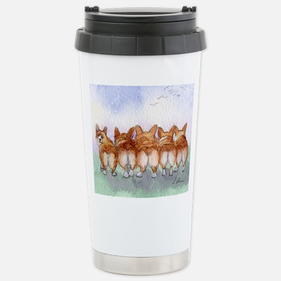 Five Corgi butts Travel Mug