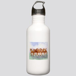 Five Corgi butts Water Bottle