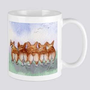 Five Corgi butts Mugs
