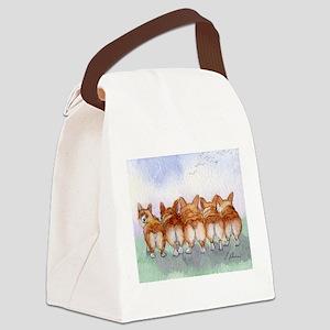Five Corgi butts Canvas Lunch Bag