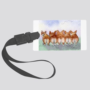 Five Corgi butts Luggage Tag