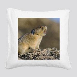 Hitting the High Note! Square Canvas Pillow