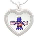 Embrace The USA Silver Heart Necklace