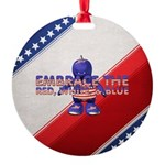 Embrace the USA Round Ornament