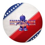 Embrace The USA Round Car Magnet