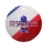 Embrace the USA Ornament (Round)