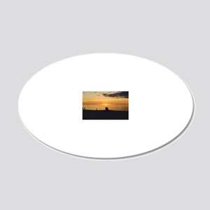 Marco Island, Florida Sunset 20x12 Oval Wall Decal