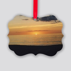 Marco Island, FL-Sunset Picture Ornament