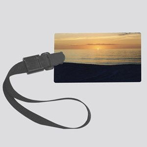 Marco Island, FL - Sunset Large Luggage Tag