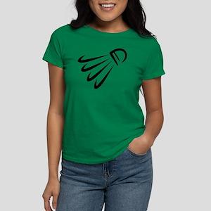 Badminton shuttlecock Women's Dark T-Shirt