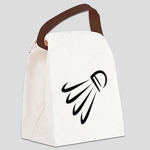 Badminton shuttlecock Canvas Lunch Bag