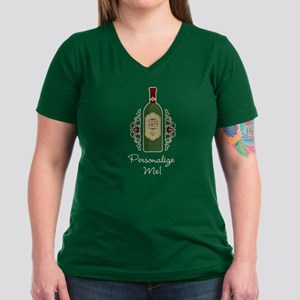 Custom Birthday Women's V-Neck Dark T-Shirt
