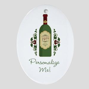 Customizable Birthday Ornament (Oval)