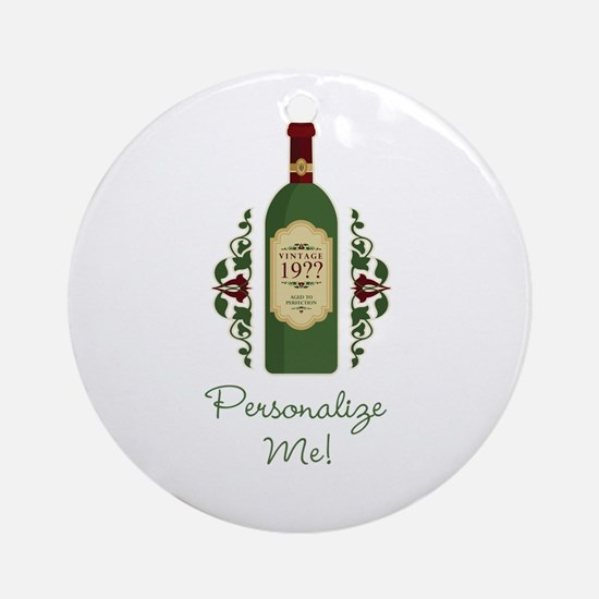 Customizable Birthday Ornament (Round)