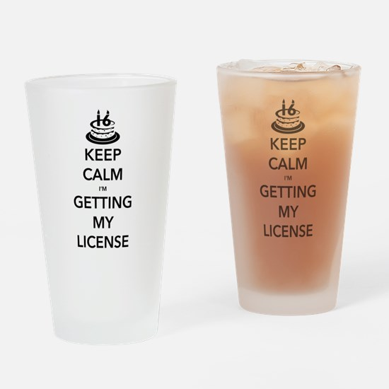 Keep Calm Sweet 16 Drinking Glass