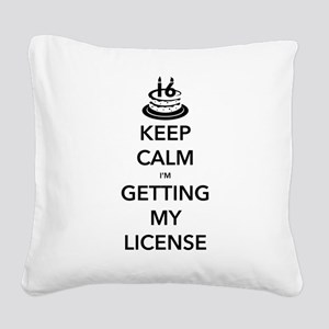 Keep Calm Sweet 16 Square Canvas Pillow