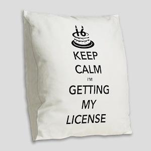 Keep Calm Sweet 16 Burlap Throw Pillow