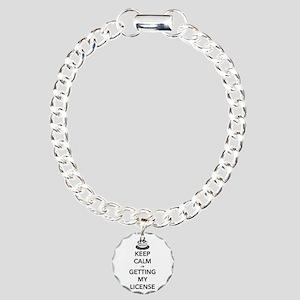 Keep Calm Sweet 16 Charm Bracelet, One Charm