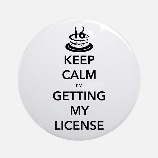 Keep Calm Sweet 16 Ornament (Round)