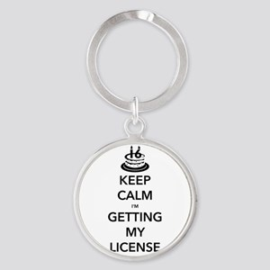 Keep Calm Sweet 16 Round Keychain