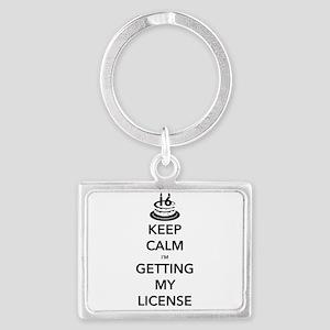 Keep Calm Sweet 16 Landscape Keychain