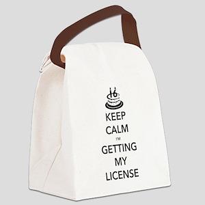 Keep Calm Sweet 16 Canvas Lunch Bag