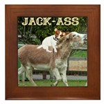 Jack Ass Framed Tile