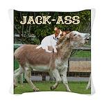 Jack Ass Woven Throw Pillow