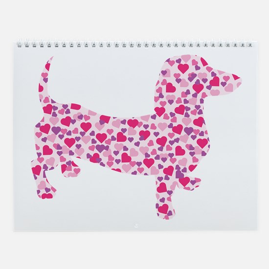 Doxie Hearts Wall Calendar