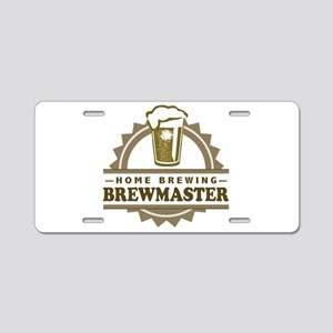 Brewmaster Home Beer Brewer Aluminum License Plate