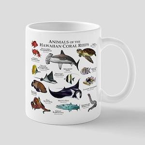 Animals of the Hawaiian Island Coral Reefs Mug