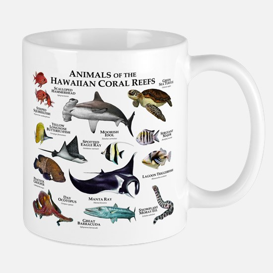 Animals of the Hawaiian Island Coral Reefs Mug