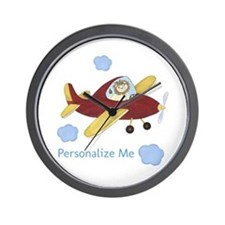 Personalized Airplane Wall Clock